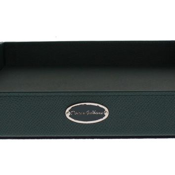 Green Leather Key Wallet Phone Money Card Tray Plate