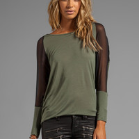 Blue Life Chiffon Eclipse Top in Military Combo from REVOLVEclothing.com