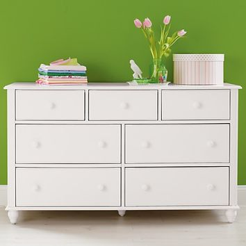 White 7-Drawer Dresser in Jenny Lind Collection | The Land of Nod
