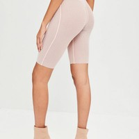 Missguided - Carli Bybel x Missguided Pink Cycling Shorts