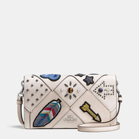 Foldover Crossbody in Embellished Canyon Quilt Leather