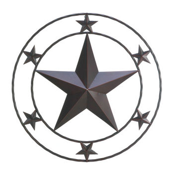 "Southwestern Metal Star 24"" Wall Plaque Country Home Decor"