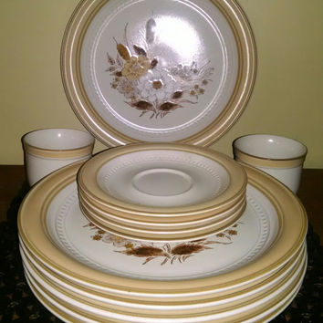 Crowning Fashion Dinnerware from Japan by Johann Haviland  Tawny Willows