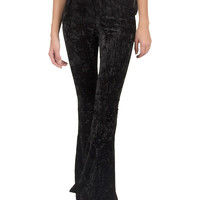Crushed Velvet Bell Bottom Pants - Large