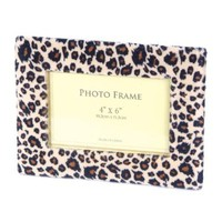 Leopard Picture Frame. Cool Amimal Print for 4 By 6 Photo.