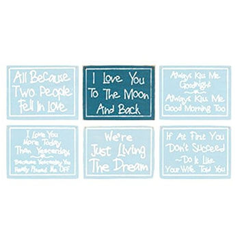 Two People In Love Sign - Romantic Sentiment Sign - 11-in (I Love You To The Moon And Back)