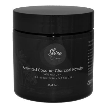 Activated Coconut Charcoal 60g (Proven Maximum Teeth Whitening Formula)