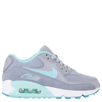 Nike Womens Air Max 90 Essential - Silver Hyper Turquoise