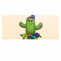 "Noonday Design ""Free Hugs Cactus"" Green Pastel Luxe Rectangle Panel"