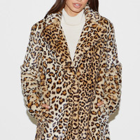 Kendall & Kylie Leopard Faux Fur Coat at PacSun.com
