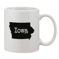 Iowa - United States Shape Printed 11oz Coffee Mug