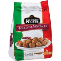 Cooked Perfect Homestyle Bite Size Meatballs, 32 oz - Walmart.com