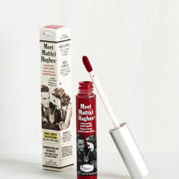 In No Time Matte Liquid Lipstick in Dark Red by theBalm from ModCloth
