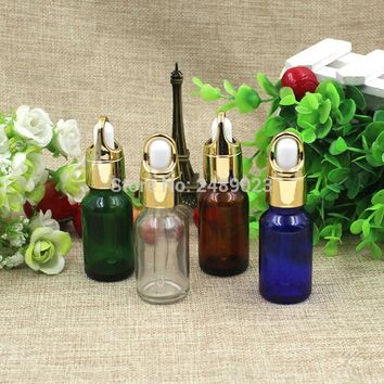 15ml Glass Dropper Makeup Bottle Empty Cosmetic Perfume Liquid Glass Dispenser Refillable Bottles 10pcs/lot