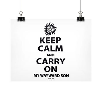 Keep Calm and Carry On My Wayward Son Horizontal Fine Art Prints (Posters)