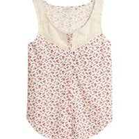 H&M - Tie Top - Natural white - Ladies