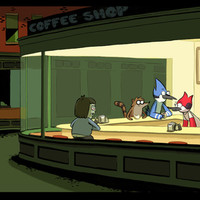 regular show nighthawks Art Print by Dave Collinson | Society6