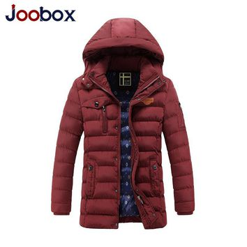 JOOBOX Brand Winter Jacket Men Warm Down Jacket Casual Parka Men padded Jacket Casual Handsome Hooded Coats