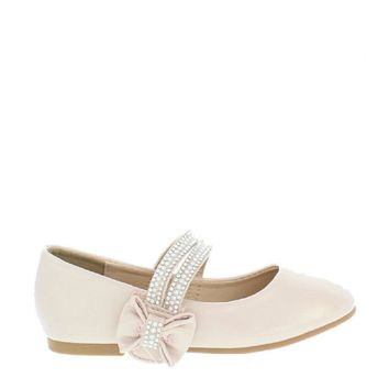 Pearl Bow Accent Kids Flat