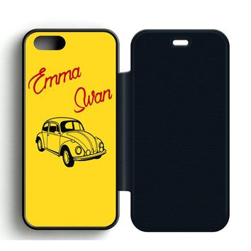 Emma Swan Leather Wallet Flip Case iPhone 5 | 5S