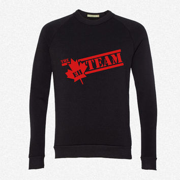 The Eh-Team fleece crewneck sweatshirt