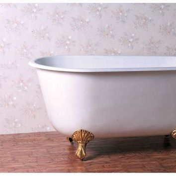 Swedish Style Roll Top Clawfoot Bathtub