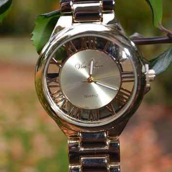 Boyfriend Watch - Roman Numerals - Gold