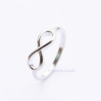 6 Boutique Silver Tone Wedding Rings Party Bridesmaid Gift Love Girl ring infinity Love you forever Sister Best Gift Size 6