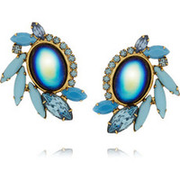 Elizabeth Cole Gold-plated, crystal and glass earrings – 50% at THE OUTNET.COM
