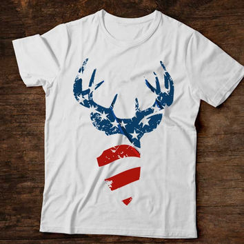 American Flag Buck T-Shirt