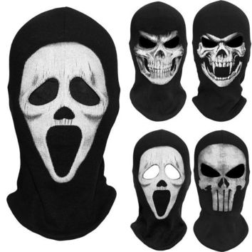 DCCKH6B Scream Death Grim Reaper Balaclava Ghost Skull Skeleton Tactical Army Party Costume Motorcycle Bicycle Halloween Full Face Masks