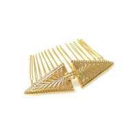 Triangle Comb - Hair Comb in Matt Gold #triangle #gold #hair accessories