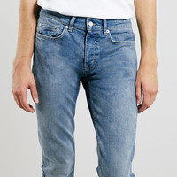 LIGHT WASH STRETCH SKINNY JEANS - TOPMAN USA