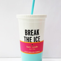 Kate Spade New York Tumbler With Straw 20 oz - Break The Ice
