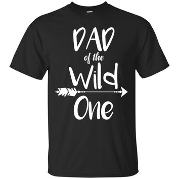 Mens Dad Of The Wild One Boho 1st Birthday Funny Matching Shirt