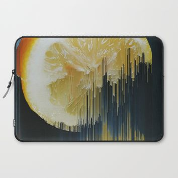 Lemony Good Glitch Laptop Sleeve by Ducky B