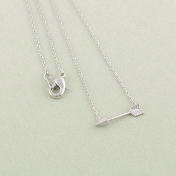 Daisies Pendant Necklace sideways necklace arrow necklace hunger games necklaces gift wedding For Girl Women 10pcs/lot