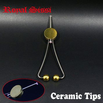 Royal Sissi 1pcs double ceramic tips Bobbin holder Super Smooth Fly Tying doctor disc Bobbin thumb grip style fly tying Tools