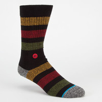 Stance Overdub Mens Crew Socks Black  In Sizes L/Xl For Men 22587310004