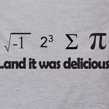 I ate some pie and it was delicious  eight sum Pi by TheShirtDudes