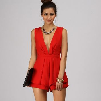 Sale-red Hot Bae Romper