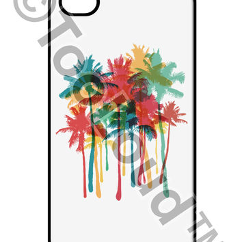 Paint Splash Palm Trees iPhone 4 / 4S Case