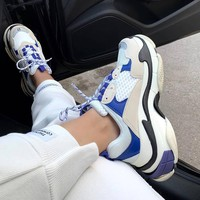 Balenciaga TRIPLE S TRAINERS Oversized multimaterial sneakers with quilted effect