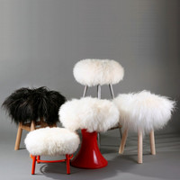 Upgrate your stool! Pure sheepskin adjustable stool cover.
