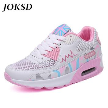 JOKSD Tennis Shoes women sneakers Lightweight Female Outdoor Athletic air Mesh Lovers walking sport tennis Trainers shoes A199