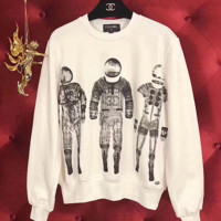 '' Chanel '' Print The astronauts Sweater Pullover Sweatshirt