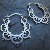 Ornate Tribal Hoops New Size