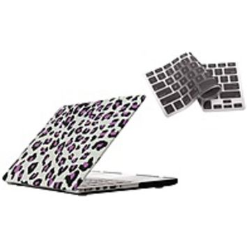 NOB Bunta ACCMPRE02P04 Shield Hard-Case Shell - for Macbook 15-inch - Leopard / Purple - with Silicone Keyboard Cover