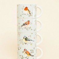 Sass & Belle Set Of 4 Birds Stacking Mugs at asos.com