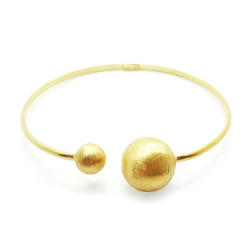 Moon and Star Bracelet, Gold-Plated